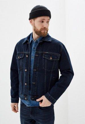 Куртка джинсовая Dairos. Цвет: синий
