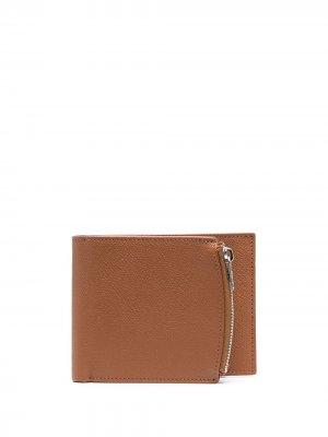 Бумажник с декоративной строчкой Maison Margiela. Цвет: коричневый