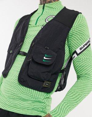 Черный жилет в стиле милитари Nigeria Nike Football