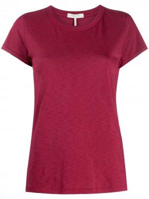 Round neck cotton T-shirt Rag & Bone. Цвет: красный