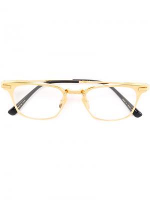 Очки с квадратной оправой Dita Eyewear. Цвет: металлический