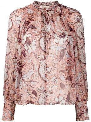 Floral print blouse Ulla Johnson. Цвет: розовый
