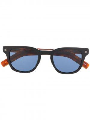 Солнцезащитные очки в квадратной оправе Ermenegildo Zegna. Цвет: коричневый
