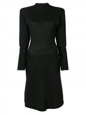Короткое приталенное платье Alaïa Pre-Owned. Цвет: черный