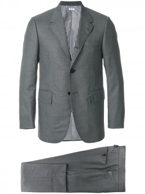 Wide Lapel Wool Twill Suit Thom Browne. Цвет: серый
