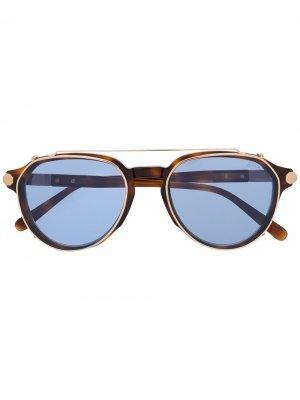 Солнцезащитные очки 002 Brioni. Цвет: коричневый