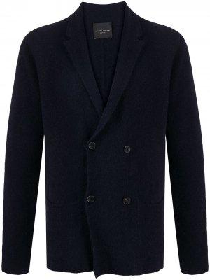 Двубортный пиджак Roberto Collina. Цвет: синий