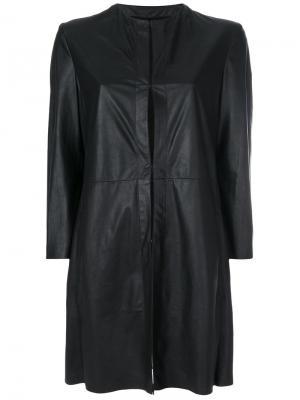 Пальто без воротника Drome. Цвет: чёрный