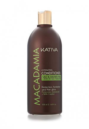 Кондиционер для волос Kativa Увлажняющий 500 мл. Цвет: белый