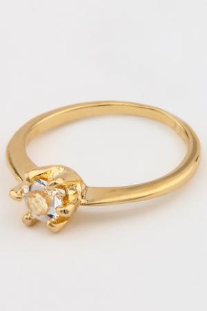 Кольцо Slava Zaitsev. Цвет: золотой, белый хрусталь