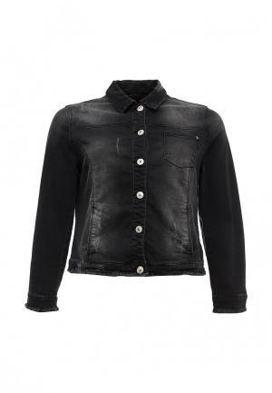 Куртка джинсовая Ulla Popken. Цвет: черный