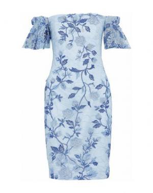 Короткое платье BADGLEY MISCHKA. Цвет: небесно-голубой