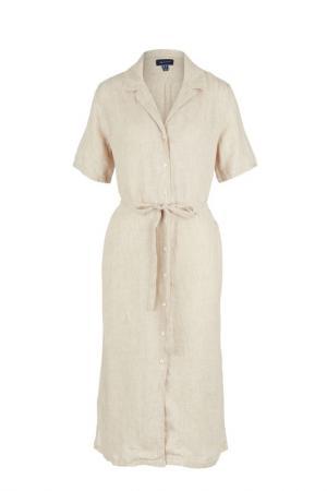 Платье Gant. Цвет: бежевый