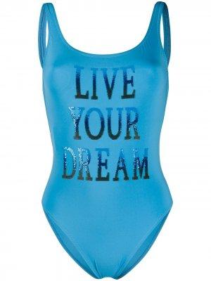 Купальник Live Your Dreams Alberta Ferretti. Цвет: синий