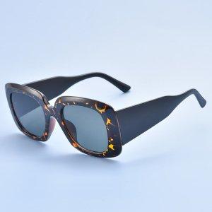 Мужские солнцезащитные очки в черепаховой оправе SHEIN. Цвет: многоцветный
