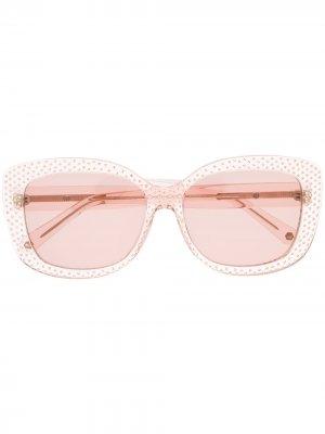 Солнцезащитные очки Paradise в квадратной оправе Philipp Plein. Цвет: розовый