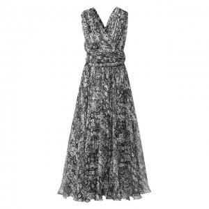 Шелковое платье Alaia. Цвет: разноцветный