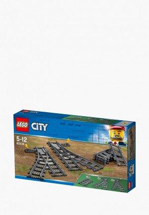Элементы LEGO City 60238 Железнодорожные стрелки. Цвет: серый