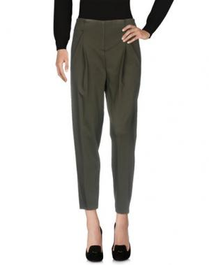 Повседневные брюки ANNARITA N TWENTY 4H. Цвет: темно-зеленый