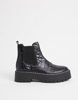 Черные ботинки челси на массивной подошве -Черный Steve Madden