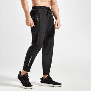 Мужской Спортивные брюки с текстовым принтом на кулиске SHEIN. Цвет: чёрный