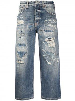 Укороченные джинсы прямого кроя Givenchy. Цвет: синий