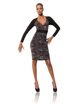 Платье Class International. Цвет: черный, серый