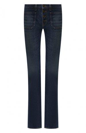 Расклешенные джинсы Saint Laurent. Цвет: синий