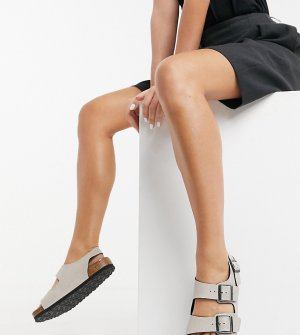 Светло-бежевые сандалии из искусственной кожи Exclusive Milano-Светло-бежевый Birkenstock