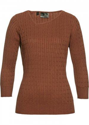 Пуловер bonprix. Цвет: корич-невый