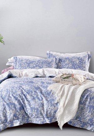 Постельное белье 1,5-спальное Bellehome Элис. Цвет: голубой