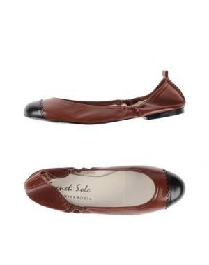 Балетки FRENCH SOLE. Цвет: темно-коричневый