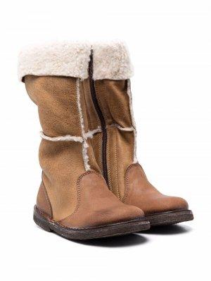 Зимние ботинки с меховой подкладкой Pèpè. Цвет: коричневый