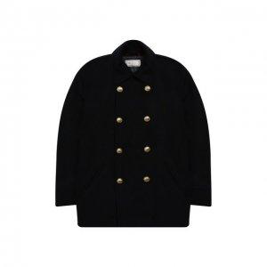 Двубортное пальто из кашемира Brunello Cucinelli. Цвет: синий