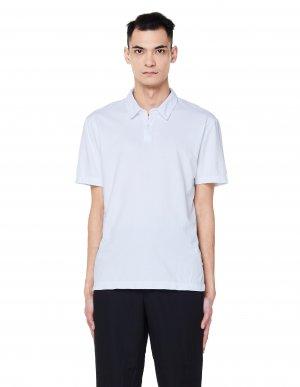 Белая хлопковая футболка-поло James Perse