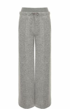 Расклешенные кашемировые брюки Loro Piana. Цвет: серый