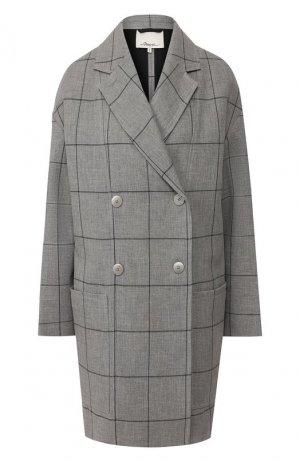 Пальто из вискозы 3.1 Phillip Lim. Цвет: серый