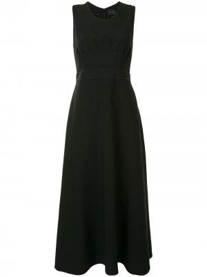 Платье миди без рукавов Giambattista Valli. Цвет: черный