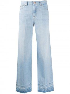Расклешенные джинсы широкого кроя 7 For All Mankind. Цвет: синий
