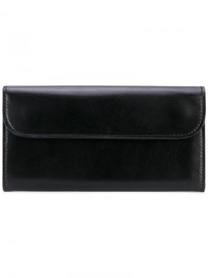 Классический кошелек Yohji Yamamoto. Цвет: чёрный