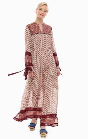 Длинное платье со стегаными вставками Scotch&Soda