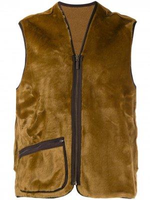 Пальто на молнии Barbour. Цвет: коричневый