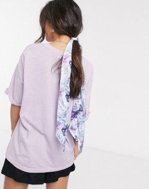 Разноцветный платок с принтом -Синий ASOS DESIGN