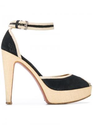 Туфли на платформе 2000-х годов Alaïa Pre-Owned. Цвет: черный