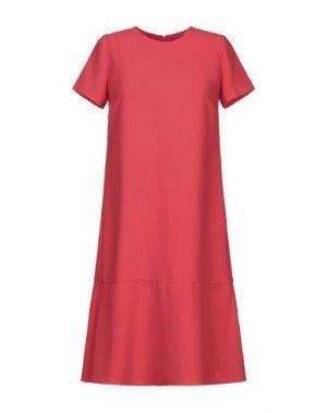 Платье до колена G.SEL. Цвет: красный
