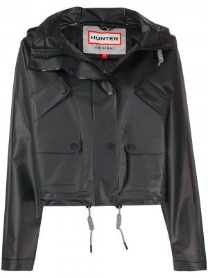 Байкерская куртка с капюшоном Hunter. Цвет: черный