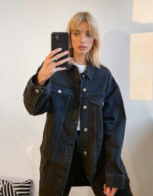 Черная джинсовая куртка в стиле oversized Khalila-Черный Dr Denim