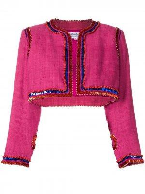 Болеро с отделкой пайетками Yves Saint Laurent Pre-Owned. Цвет: розовый