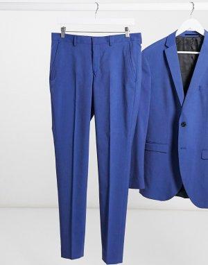 Синие брюки скинни для смокинга -Голубой Selected Homme