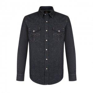 Джинсовая рубашка RRL. Цвет: синий
